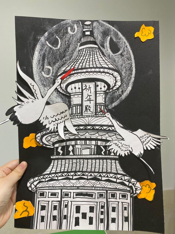学生作品-线描祈年殿-3.jpg插图(9)